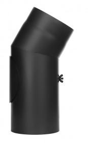 Tubi per stufe a legna - Curva 30° con ispezione - nero - TEC-Ferro-Lux