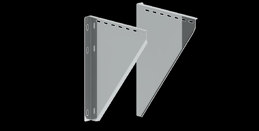 Canna Fumaria - Coppia alette di supporto regolabili 150 - 250 mm - doppia parete - TEC-DW-Standard