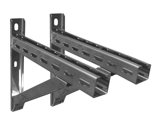 Canna Fumaria - Supporto a muro & Traversa - Tip.4 - 1030 mm - doppia parete - TEC-DW-Standard