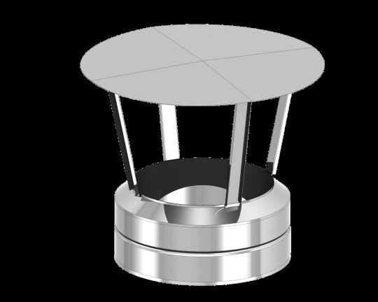 Canna Fumaria - Comignolo antipioggia con tappo di chiusura integrato - doppia parete - TEC-DW-Standard