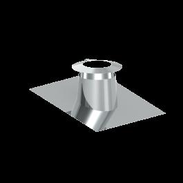 Canna fumaria coassiale - Faldale per tetti inclinati di 5°-15° con bordo malleabile e scossalina - Tecnovis TWIN-P
