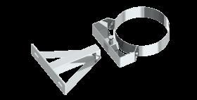 Canna fumaria - Staffa di fissaggio regolabile per distanze a partire da 250mm - doppia parete - TEC-DW-Standard