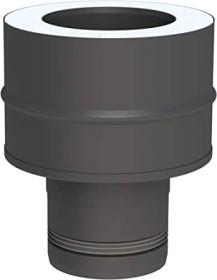 Tubi per stufe a pellet - Tubo 1000 mm - nero – Tecnovis-Pellet-Line