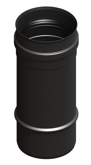 Tubi per stufe a pellet - Tubo 250 mm - nero - Tecnovis-Pellet-Line