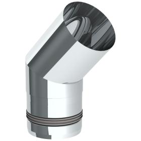 Tubi per stufe a pellet - Curva 45° - non verniciato - Tecnovis-Pellet-Line