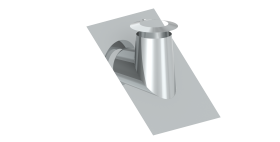 Canna Fumaria - Faldale per tetti inclinati 26°-35° con bordo malleabile e scossalina - doppia parete - TEC-DW-Standard