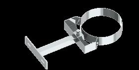 Canna fumaria coassiale - Staffa di fissaggio 150-250 mm - Tecnovis TWIN-P