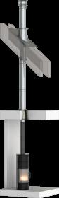 Canna fumaria a doppia parete - standard TEC-DW - kit interno - Ø130mm