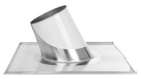 Canna Fumaria - Faldale per tetti inclinati di 16°-25° con scossalina - doppia parete - TEC-DW-Standard