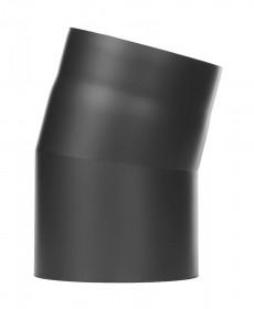 Tubi per stufe a legna - Curva 15° senza ispezione - nero - TEC-Ferro-Lux