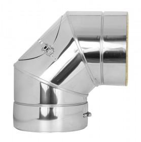 Canna Fumaria - Curva 90° con ispezione - doppia parete - TEC-DW-Standard
