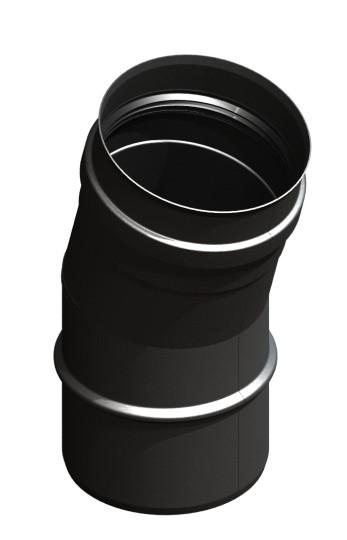 Tubi per stufe a pellet - Curva 15° - nero - Tecnovis-Pellet-Line