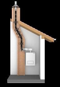 Tubo flessibile - doppia parete - risanamento canne fumarie - 120 mm