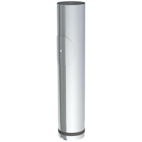 Tubi per stufe a pellet - Tubo 500mm con ispezione - non verniciato - Tecnovis-Pellet-Line