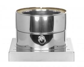 Canna Fumaria - Piastra di base con scarico condensa laterale - doppia parete - TEC-DW-Standard