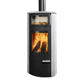 Stufa a legna Novaline Gusto Back 8 kW girevole - con forno
