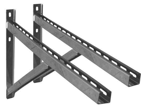Canna Fumaria - Supporto a muro & Traversa - Tip.3 - 750mm - doppia parete - TEC-DW-Standard
