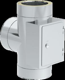Canna Fumaria - Raccordo a T 90° con ispezione - doppia parete - TEC-DW-Standard