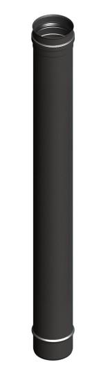 Tubi per stufe a pellet - Tubo 1000 mm - nero - TEC-Pellet-Line