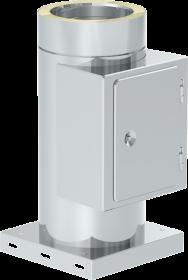 Canna Fumaria - Tubo di ispezione con piastra di base - doppia parete - TEC-DW-Standard