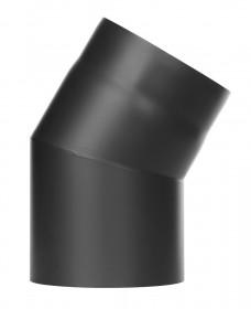 Tubi per stufe a legna - Curva 30° senza ispezione - nero - TEC-Ferro-Lux
