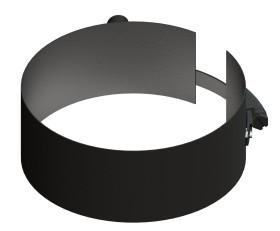 Tubi per stufe a pellet - Fascetta di fissaggio con presa filettata - nero - Tecnovis-Pellet-Line