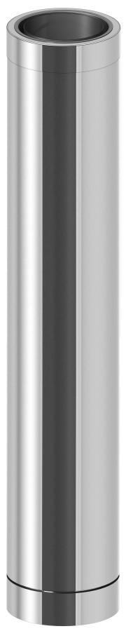 Längenelement 1000 mm mit Wandfutter kürzbar - doppelwandig - Jeremias DW-ECO