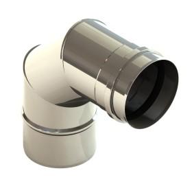 Tubi per stufe a pellet - Curva 90° - non verniciato - Tecnovis Pellet Line