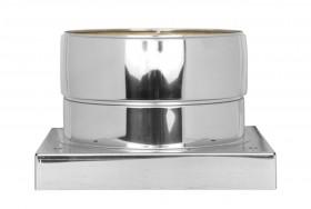 Canna Fumaria - Piastra di base con scarico condensa verso il basso - doppia parete - TEC-DW-Standard