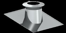 Canna Fumaria - Faldale per tetti inclinati di 5°-15° con scossalina - doppia parete - TEC-DW-Standard