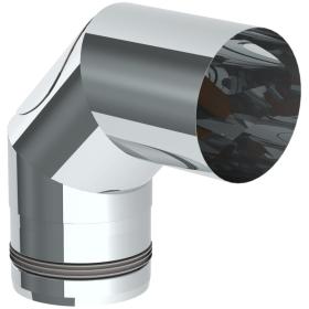 Tubi per stufe a pellet - Curva 90° con ispezione - non verniciato - Tecnovis Pellet Line