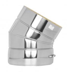 Canna Fumaria - Curva 30° - doppia parete - TEC-DW-Standard