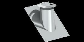 Canna Fumaria - Faldale per tetti inclinati 36°-45° con scossalina - doppia parete - TEC-DW-Standard