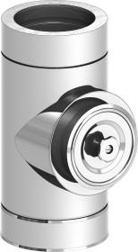 Canna Fumaria - Tubo di ispezione con apertura tonda - doppia parete - TEC-DW-Standard