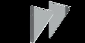 Canna Fumaria - Coppia alette di supporto regolabili 250 - 360 mm - doppia parete - TEC-DW-Standard