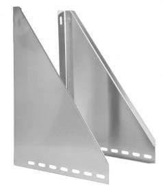 Canna Fumaria - Coppia alette di supporto regolabili 50 - 150 mm - doppia parete - TEC-DW-Standard