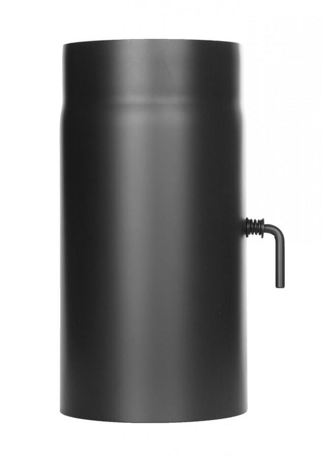 Ofenrohr FERRO1418 - Längenelement 300 mm schwarz mit Drosselklappe