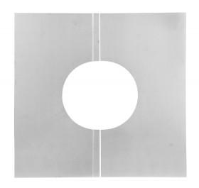 Canna Fumaria . Pannello di chiusura 0° a due pezzi - doppia parete - TEC-DW-Standard