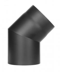 Tubi per stufe a legna - Curva 45° senza ispezione -nero -TEC-Ferro-Lux