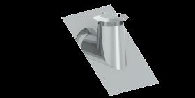 Canna Fumaria - Faldale per tetti inclinati 36°- 45° con bordo malleabile e scossalina - doppia parete - TEC-DW-Standard