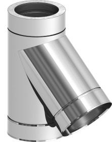 Canna Fumaria - Raccordo a T 45° - doppia parete - TEC-DW-Standard