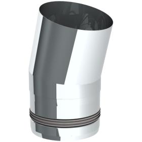 Tubi per stufe a pellet - Curva 15° - non verniciato - Tecnovis-Pellet-Line