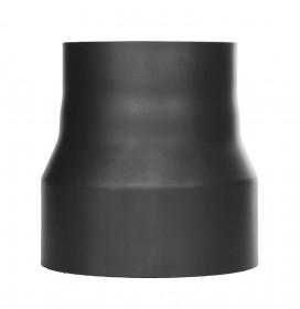 Tubi per stufe a legna - Riduzione - nero - TEC-Ferro-Lux