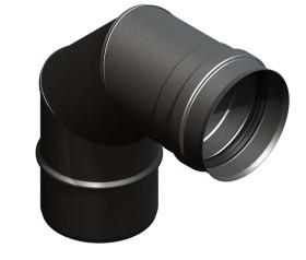 Tubi per stufe a pellet - Curva 90° - nero - Tecnovis-Pellet-Line