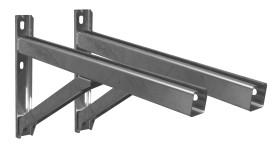 Canna Fumaria - Supporto a muro & Traversa - Tip.2 - 500 mm - doppia parete - TEC-DW-Standard