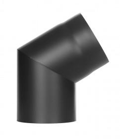Tubi per stufe a legna - Curva 60° senza ispezione -nero - TEC-Ferro-Lux