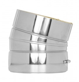 Canna Fumaria - Curva 15° - doppia parete - TEC-DW-Standard