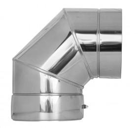 Canna Fumaria - Curva 90° - doppia parete - TEC-DW-Standard