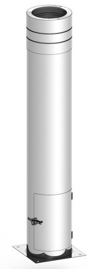 Canna fumaria - Tubo telescopico 400 - 1115 mm  - doppia parete - TEC-DW-Standard