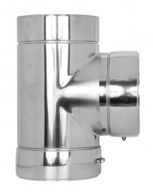 Canna Fumaria - Raccordo a T 90° - doppia parete - TEC-DW-Standard